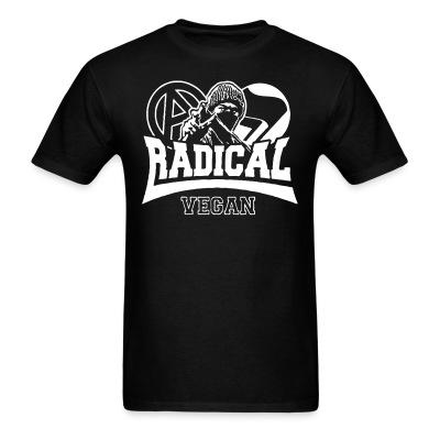 T-shirt Radical vegan