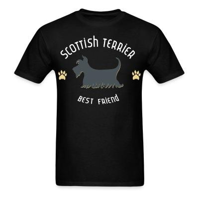 T-shirt Scottish terrier best friend