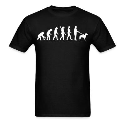 T-shirt Staffordshire Bull Terrier evolution