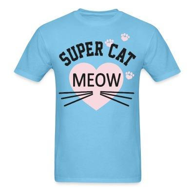 T-shirt Super cat Meow