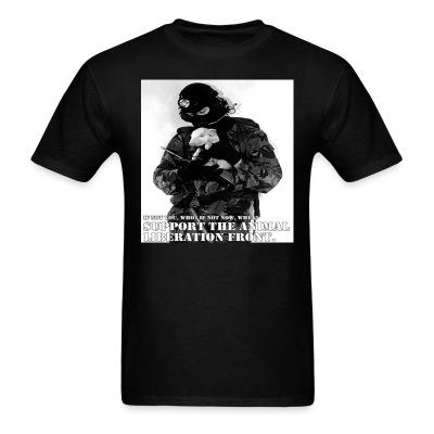 T-shirt Support the animal liberation front