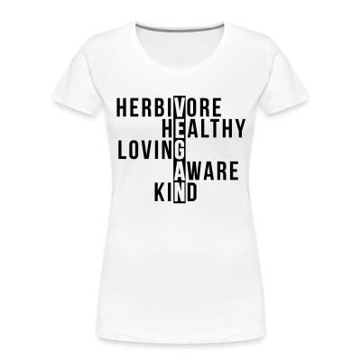 Women Organic Herbivore healthy loving aware kind vegan