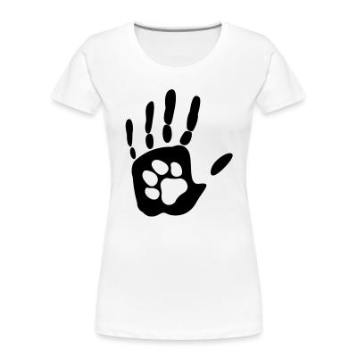 Women Organic Human hand & animal paw
