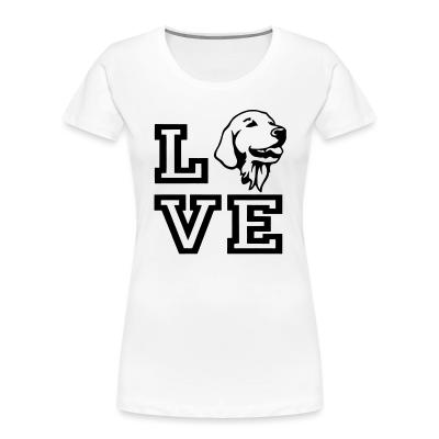 Women Organic love Golden Retriever
