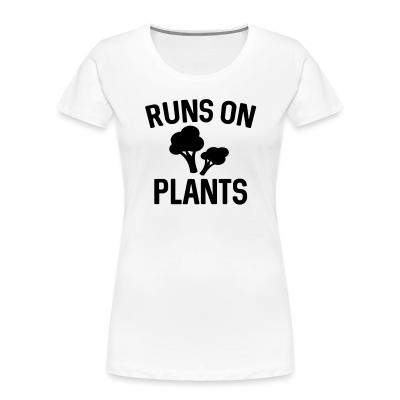 Women Organic Runs on plants