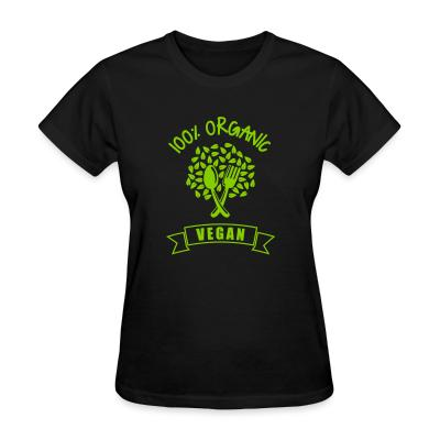 Women T-shirt 100% organic Vegan