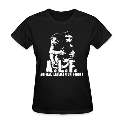 Women T-shirt A.L.F Animal Liberation Front