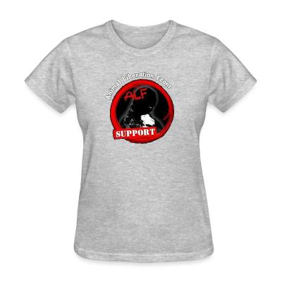 Women T-shirt ALF Animal Liberation Front support
