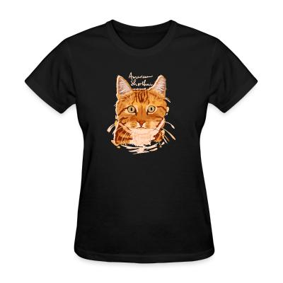 Women T-shirt American shorthair