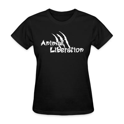 Women T-shirt Animal liberation