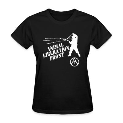 Women T-shirt Animal Liberation Front - ALF
