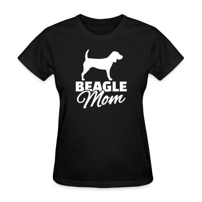 Women T-shirt Beagle mom