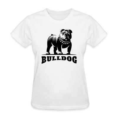 Women T-shirt bulldog