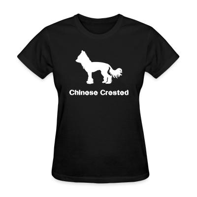 Women T-shirt chinese crested