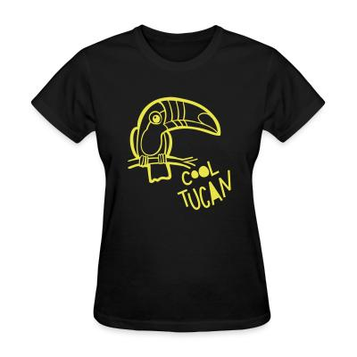 Women T-shirt Cool tucan