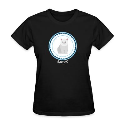 Women T-shirt Exotic Shorthair Cat