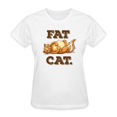 Women T-shirt Fat Cat