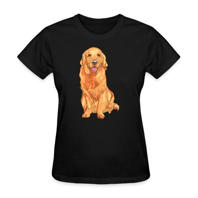 Women T-shirt Golden Retriever