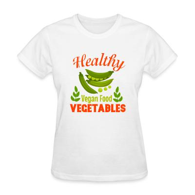 Women T-shirt Healthy vegetable vegan food