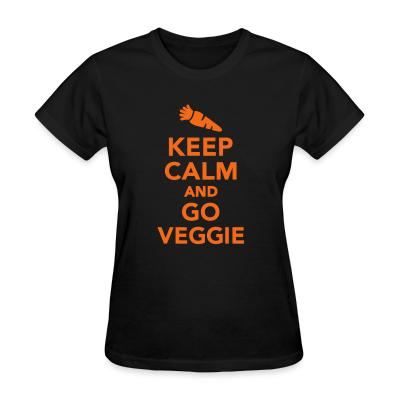 Women T-shirt keep calm and go veggie