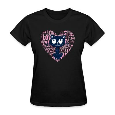 Women T-shirt Love