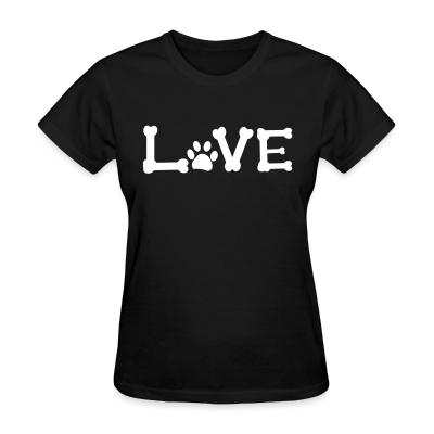 Women T-shirt Love paw