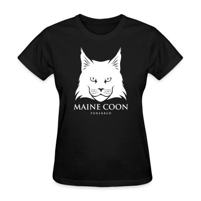 Women T-shirt Maine Coon Cat