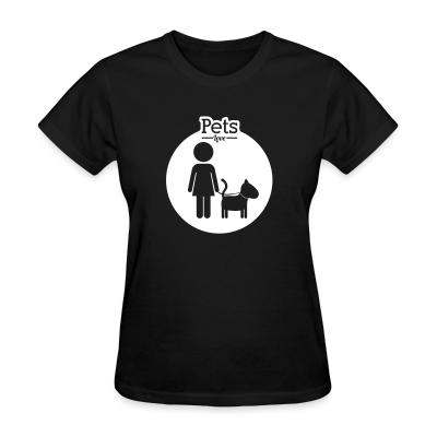 Women T-shirt Pets love