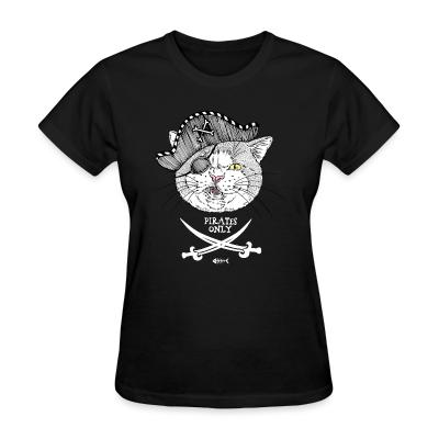 Women T-shirt Pirates only
