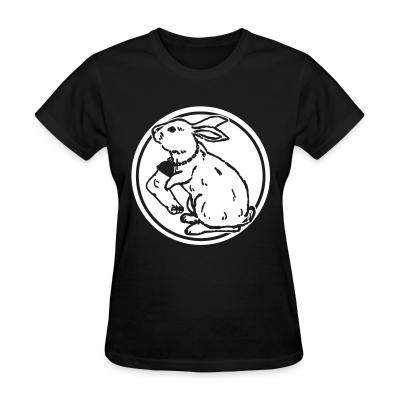 Women T-shirt Rabbit foot
