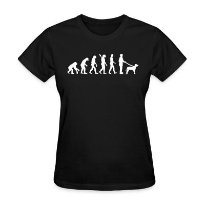 Women T-shirt Staffordshire Bull Terrier evolution