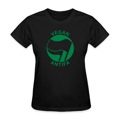 Women T-shirt Vegan Antifa