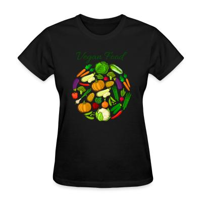 Women T-shirt Vegan food