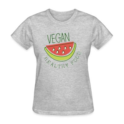 Women T-shirt Vegan healthy food