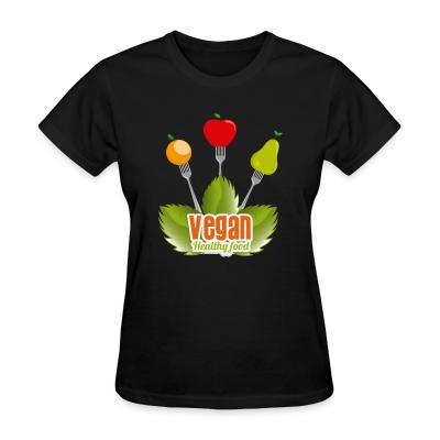Women T-shirt Vegan Healty food