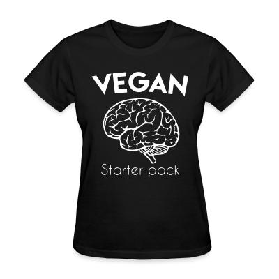 Women T-shirt Vegan starter pack