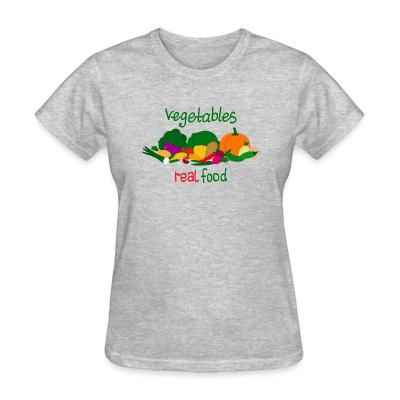 Women T-shirt vegetable real food