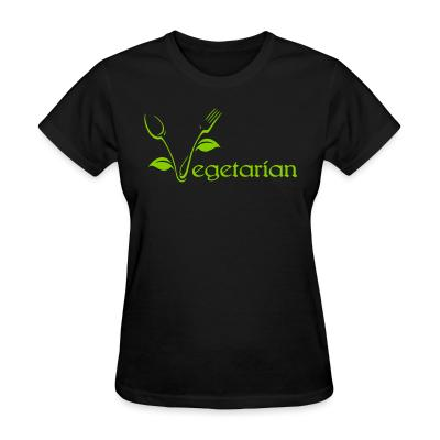 Women T-shirt Vegetarian