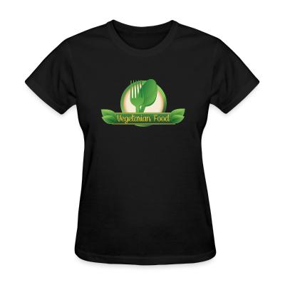 Women T-shirt Vegetarian food