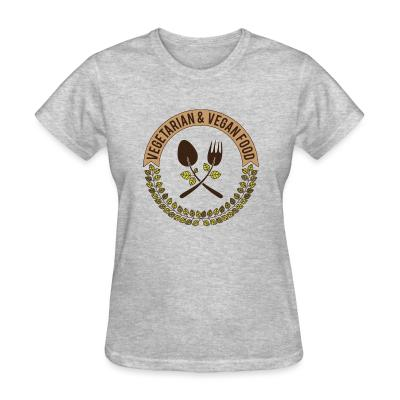 Women T-shirt Vegetarian & Vegan food
