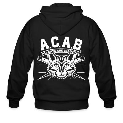 Zip hoodie A.C.A.B. All Cats Are Beautiful