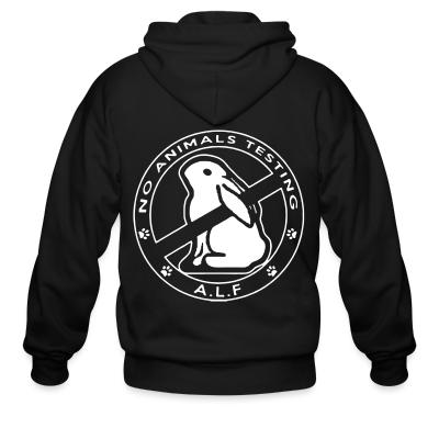 Zip hoodie A.L.F. no animals testing