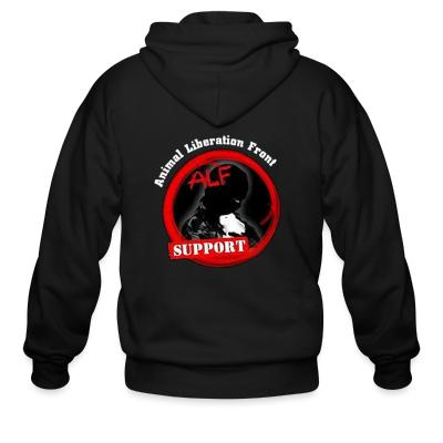 Zip hoodie ALF Animal Liberation Front support