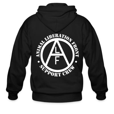 Zip hoodie ALF Animal Liberation Front support crew