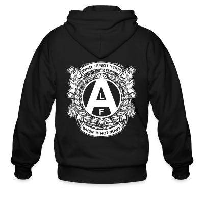 Zip hoodie ALF - who, if not you? when, if not now?