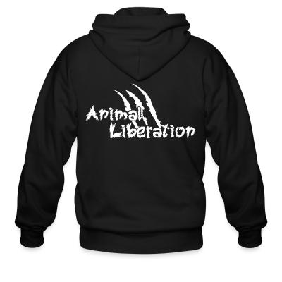 Zip hoodie Animal liberation