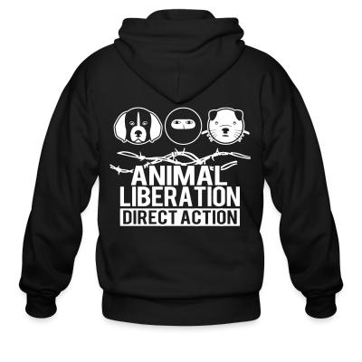 Zip hoodie Animal liberation direct action