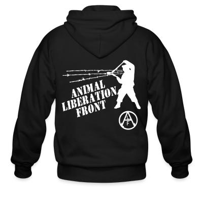 Zip hoodie Animal Liberation Front - ALF