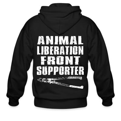 Zip hoodie Animal liberation front supporter