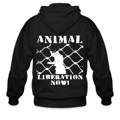 Zip hoodie Animal liberation now!